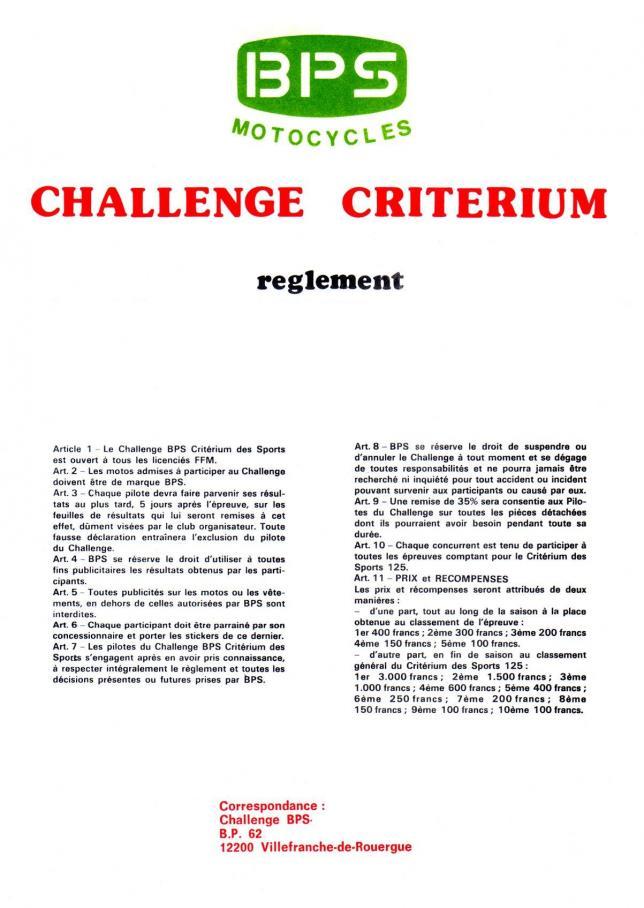 Challenge criterium 1975 2